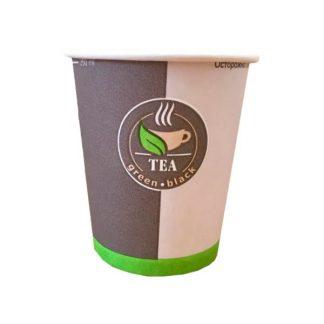 Стакан бумажный 250 мл с печатью Coffee to go 1 слой