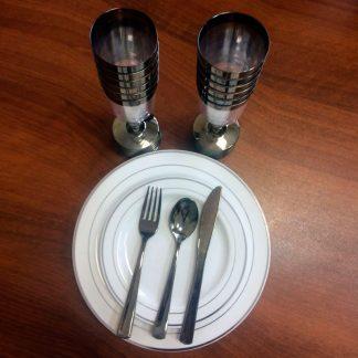 Набор подарочный металлизированной посуды на 12 персон