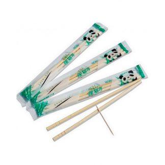 Палочки 20 см для суши бамбуковые круглые разделенные с зубочисткой