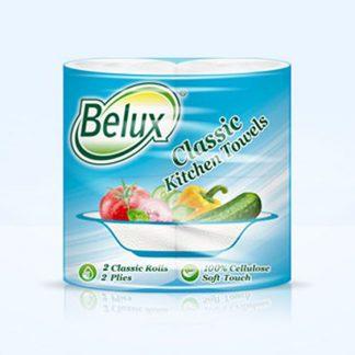 Бумажные полотенца Belux Classic 2 рулона, 2 слоя, белые