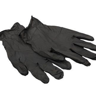 Перчатки нитриловые черные Aviora