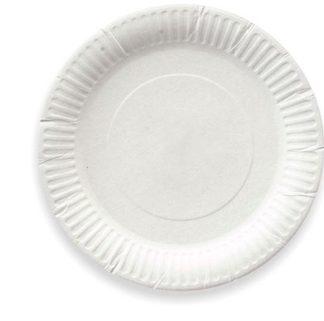 Бумажные одноразовые тарелки