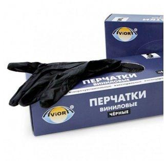 Перчатки виниловые Aviora черные