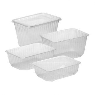 Набор контейнеров с крышкой (СтиролПласт), четыре размера