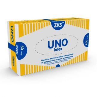 Перчатки латексные неопудренные однократного хлорирования ZKS UNO