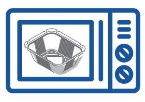 Только один алюминиевый контейнер может находиться в микроволновой печи.
